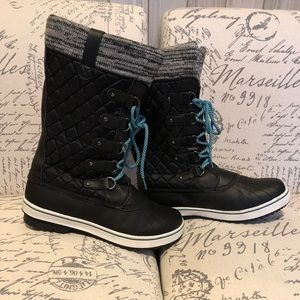 Totes Glenda black tall winter boots size 11